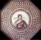 Personification of Sartoria, fifth century mosaic from Narlica, near Antioch, Archaeological Museum, Antioch, Turkey