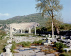 Turkey Ephesus  the Arcadian Way leading  up to the Theatre which was first constructed during the Hellenistic period and restored in the first and second centuries AD seated 24,000