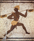 Black fisherman, second century mosaic from Antioch, Archaeological Museum, Antioch, Turkey