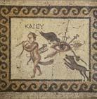 Evil Eye, 2nd century Roman mosaic, Hatay Archaeological Museum, Antioch, Turkey