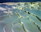 Turkey Pamukkale the calcium carbonate formations