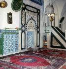 Turkey, Adana, Ulu Camii, seventeenth century mihrab and  mimbah