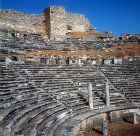 Theatre dating from fourth century, Hellenistic period, Miletus, Turkey