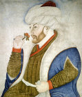 Mehmet II The Conqueror, fifteenth century portrait by Sinan Bey, Topkapi Palace Museum, Istanbul, Turkey