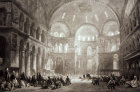 Engraving of Hagia Sophia  by Thomas Allom 1804-1872