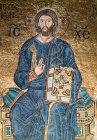 Turkey Istanbul mosaic of Christ detail in the south gallery of Hagia Sophia 11th century