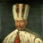 Sultan Mahmud I, 1730-1754,  portrait in the Topkapi  Palace Museum Istanbul, Turkey