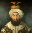 Sultan Osman III, 1754-1757,  portrait in the Topkapi Palace Museum, Istanbul, Turkey