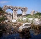 Basilica, fifth century AD, part under water, Miletus, Turkey