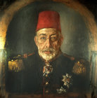 Sultan Mehmed V, 1909-1918, portrait in the Topkapi Palace Museum, Istanbul, Turkey