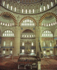 Turkey, Edirne, Selimiye Mosque, built 1569-1575 by Mimar Sinan, Interior looking east, the mimbah and mihrab