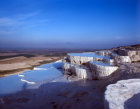 Turkey Pamukkale ancient Hierapolis the rock pools are formed by calcium carbonate from the hot springs