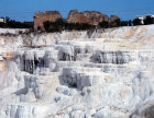 Turkey Pamukkale ancient Hierapolis  the calcium carbonate formations made by the hot springs