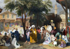Turkey, the Slave Market,  1840 engraving by Thomas Allom, painted by Laura Lushington