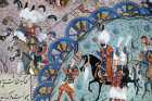 Suleyman the Magnificent besieging Istolni Bedgrad in Hungary, 16th century miniature in ms H 1517, page 409a, Topkapi Palace Museum, Istanbul