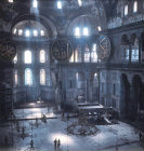Turkey interior of Hagia Sophia built by Justinian in the 6th century