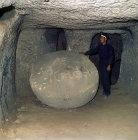Turkey, Cappadocia, underground city of Kaymakli dating from the 6th century AD