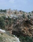 Basilica, fifth century, above ravine in Kanytelis, ancient city near Elaiussa Sebaste on south east coast of Turkey