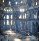 Turkey Istanbul Hagia Sophia built by Justinian the Interior looking east 6th century