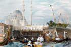 Turkey, the Sultan Valide Mosque or Yeni Cami, 1840 engraving by W.H.Bartlett  painted by Laura Lushington