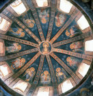 Turkey Istanbul Kariye Camii mosaic of Virgin and Child with attendant Angels in the dome of the west bay