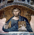 Turkey Istanbul Kariye Camii mosaic of Christ  Pantocrator in the Narthex 14th century
