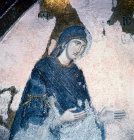 Turkey Istanbul Kariye Camii a detail of the Virgin Mary from the Deesis 14th century Byzantine mosaic