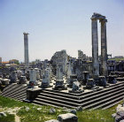 Temple of Apollo, 300 BC to second century AD, north west view, Didyma, Turkey
