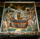 Turkey Istanbul Kariye Camii  mosaic of Dormition of the Virgin and Christ receiving her soul