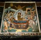 Turkey Istanbul Kariye Camii  mosaic of Dormition of the Virgin and Christ receiving her soul