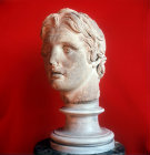 Turkey head of Alexander the Great found at Pergamon  2nd century BC  Archaeological Museum Istanbul