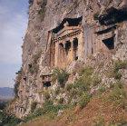 Lycian tomb, fourth century BC, Fethiye (ancient Telmessus), Turkey