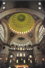 Turkey Istanbul the Suleymaniye Camii Interior 16th century Ottoman mosque