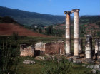 Turkey, Sardis, The Temple of Artemis 150 AD and Byzantine chapel at east end