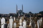 Selimye Camii mosque, sixteenth century, built by Sinan, seen from graveyard of Muradiye, Edirne, Turkey