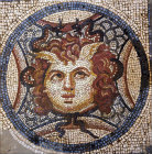 Turkey Ephesus  mosaic of Medusa in one of the Roman Villas 2nd century AD