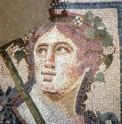Turkey Ephesus mosaic of Dionysus in one of the Roman Villas  2nd century AD