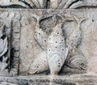 Relief of three fishes, fifth century, Alahan Monastery, Turkey
