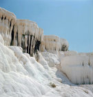 Turkey  Pamukkale ancient Hierapolis  calcium carbonate formations made by the hot springs