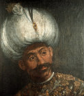 Sultan Orhan I, 1326-1362, portrait in the Topkapi Palace Mueum, Istanbul, Turkey