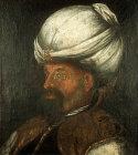 Sultan Murad I, 1362-1389, portrait in the Topkapi Palace Museum, Istanbul, Turkey