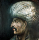 Sultan Suleyman I,1520-1566, portrait in the Topkapi Palace Museum, Istanbul, Turkey