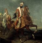 Sultan Mahmud II 1808-1835 portrait painted by Hippolite Berteaux and now in the Topkapi Palace Museum, Istanbul, Turkey