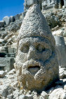 Zeus, sculpted head in stone, circa 50 BC, east side of Nemrud Dag tomb sanctuary, south eastern Turkey