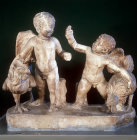 Two cupids playing with cocks, Tarsus, 2nd century AD, Archaeological Museum, Istanbul, Turkey