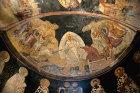 Anastasis, Christ trampling Satan and rescuing Adam and Eve, early fourteenth century, semi dome of apse, Kariye Camii, Istanbul, Turkey