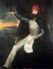 Sultan Mahmut II, 1808-1839,  portrait in the Topkapi Palace Museum, Istanbul, Turkey