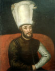 Sultan Mustafa I, 1617-1618 and 1622- 1623 when he was finally deposed, portrait in the Topkapi Palace Museum, Istanbul, Turkey