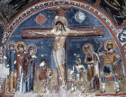 Turkey, Cappadocia, the Crucifixion 1200-1210 AD,  mural in the rock-cut Church of Karanlik Kilise in the Goreme Valley