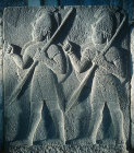 Relief of procession of Assyrian style soldiers, from Carchemish, second half of eighth century BC, Hittite Museum Ankara, Turkey